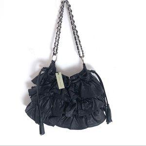 Adrienne Vittadini Donatella Leather Ruffle Bag